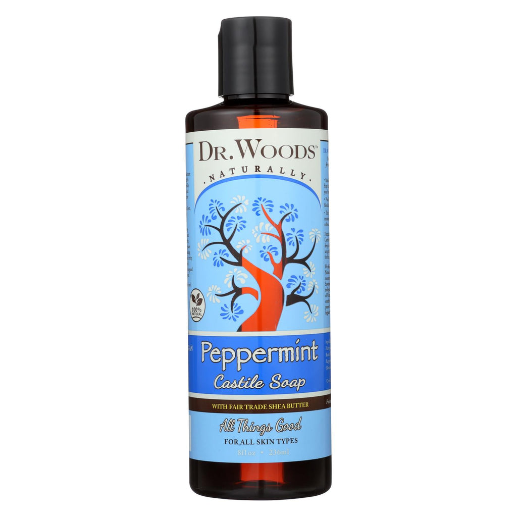 Dr. Woods Shea Vision Pure Castile Soap Peppemint With Organic Shea Butter - 8 Fl Oz - Organicotc.com