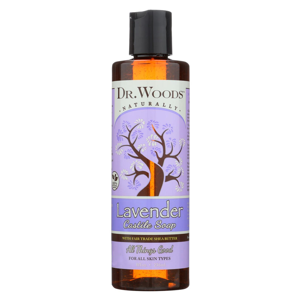 Dr. Woods Shea Vision Pure Castile Soap Lavender With Organic Shea Butter - 8 Fl Oz - Organicotc.com