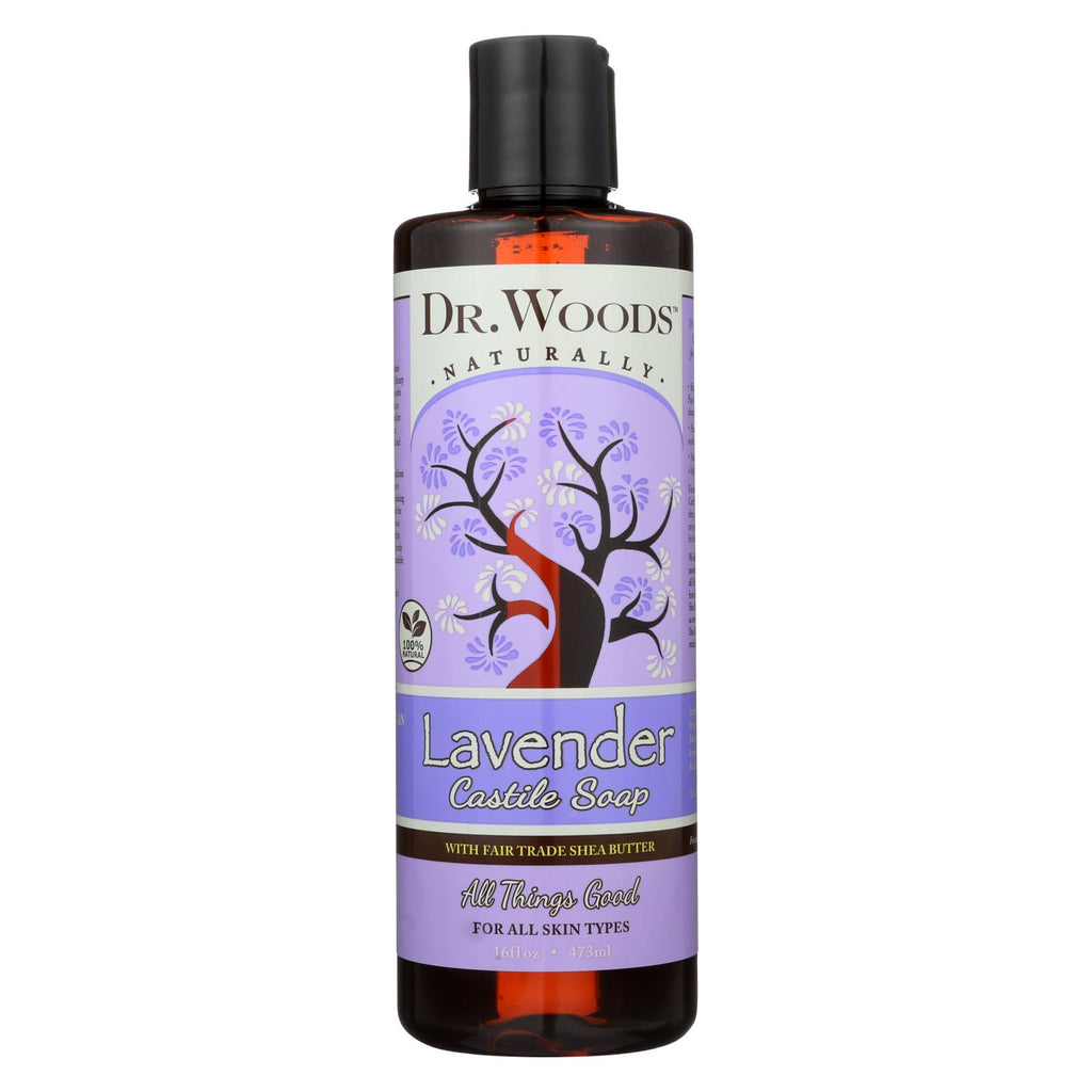 Dr. Woods Shea Vision Pure Castile Soap Lavender With Organic Shea Butter - 16 Fl Oz - Organicotc.com