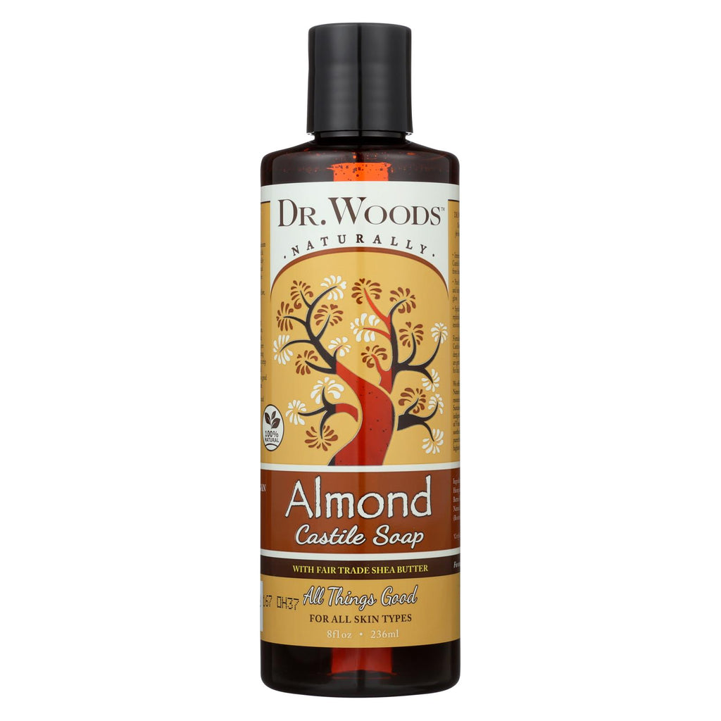 Dr. Woods Shea Vision Pure Castile Soap Almond With Organic Shea Butter - 8 Fl Oz - Organicotc.com