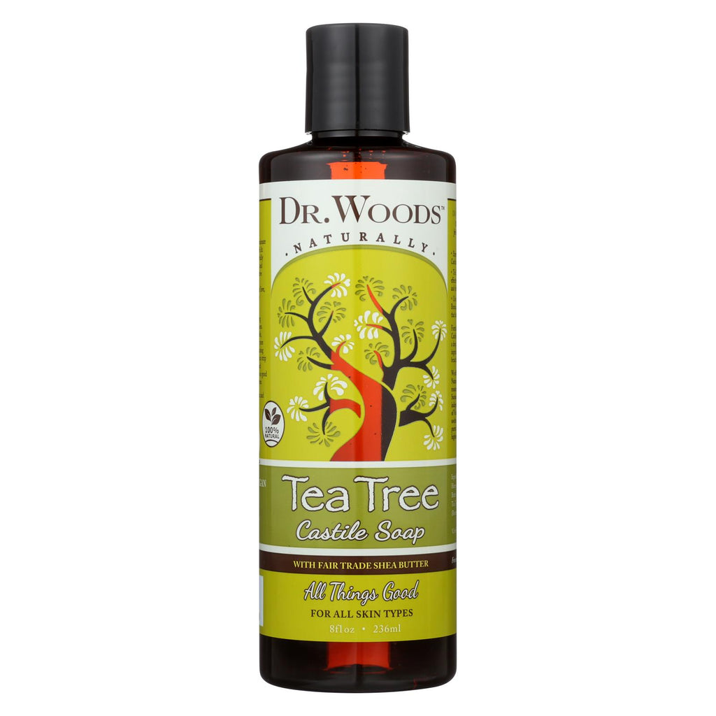 Dr. Woods Shea Vision Pure Castile Soap Tea Tree - 8 Fl Oz - Organicotc.com