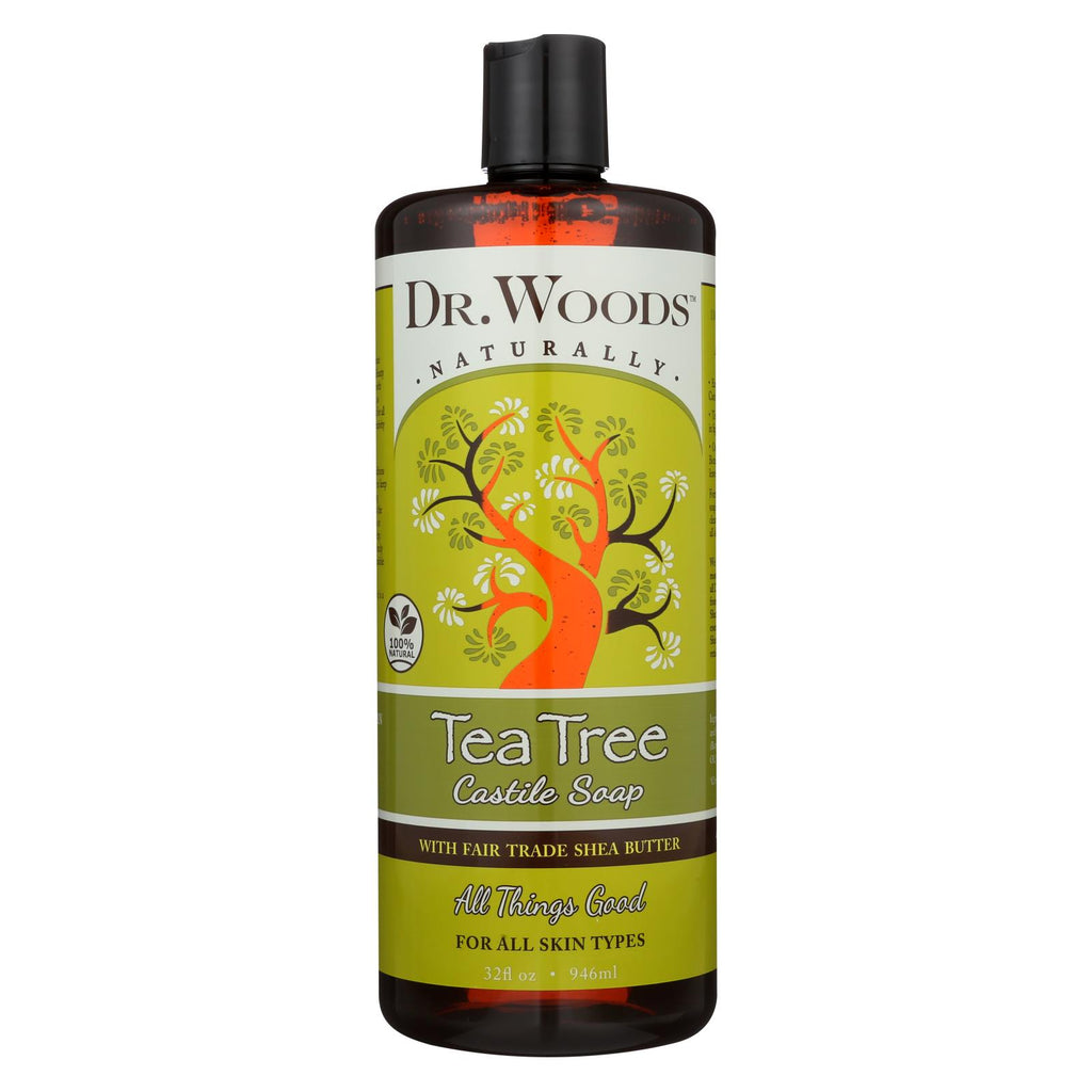 Dr. Woods Shea Vision Pure Castile Soap Tea Tree - 32 Fl Oz - Organicotc.com