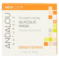 Andalou Naturals Glycolic Brightening Mask Pumpkin Honey - 1.7 Fl Oz - Organicotc.com