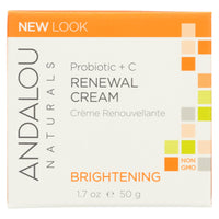 Andalou Naturals Renewal Cream Brightening Probiotic Plus C - 1.7 Fl Oz - Organicotc.com