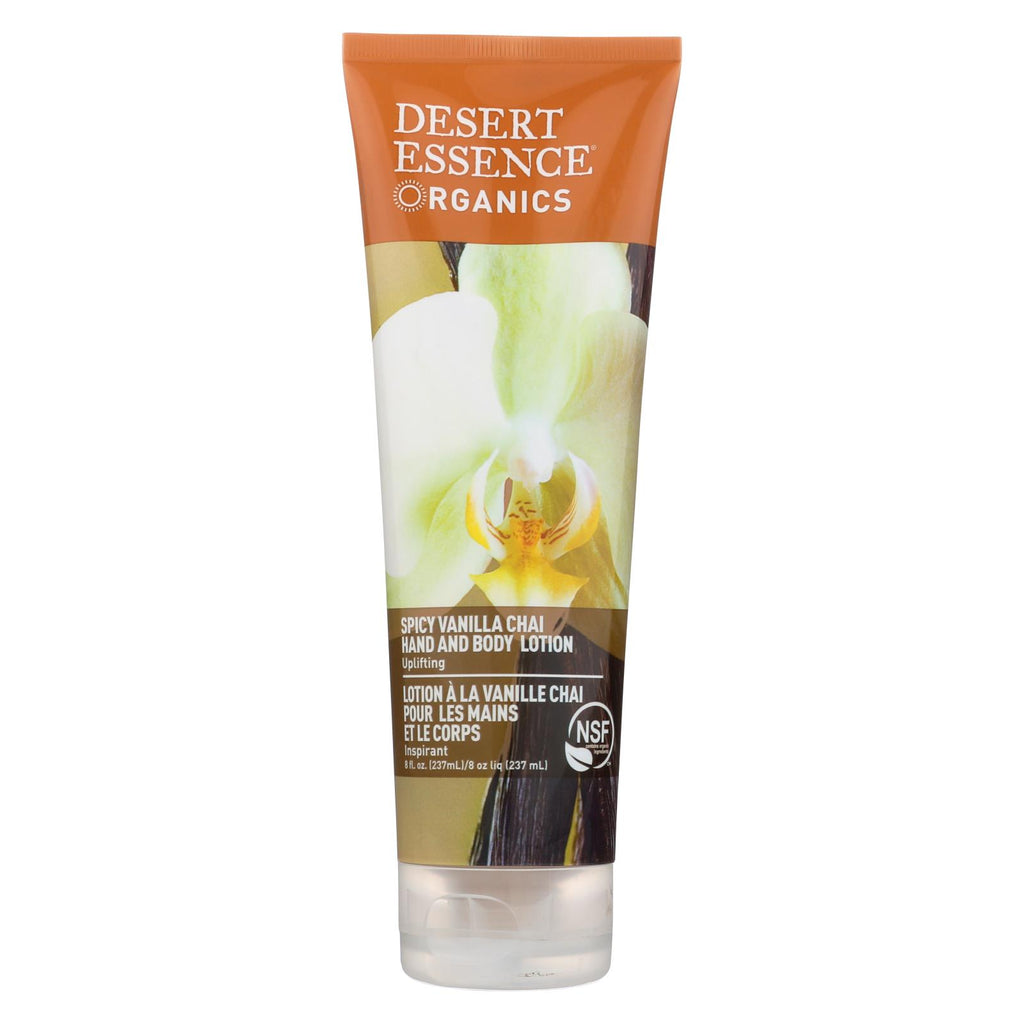 Desert Essence Hand And Body Lotion Organics Vanilla Chai - 8 Fl Oz - Organicotc.com