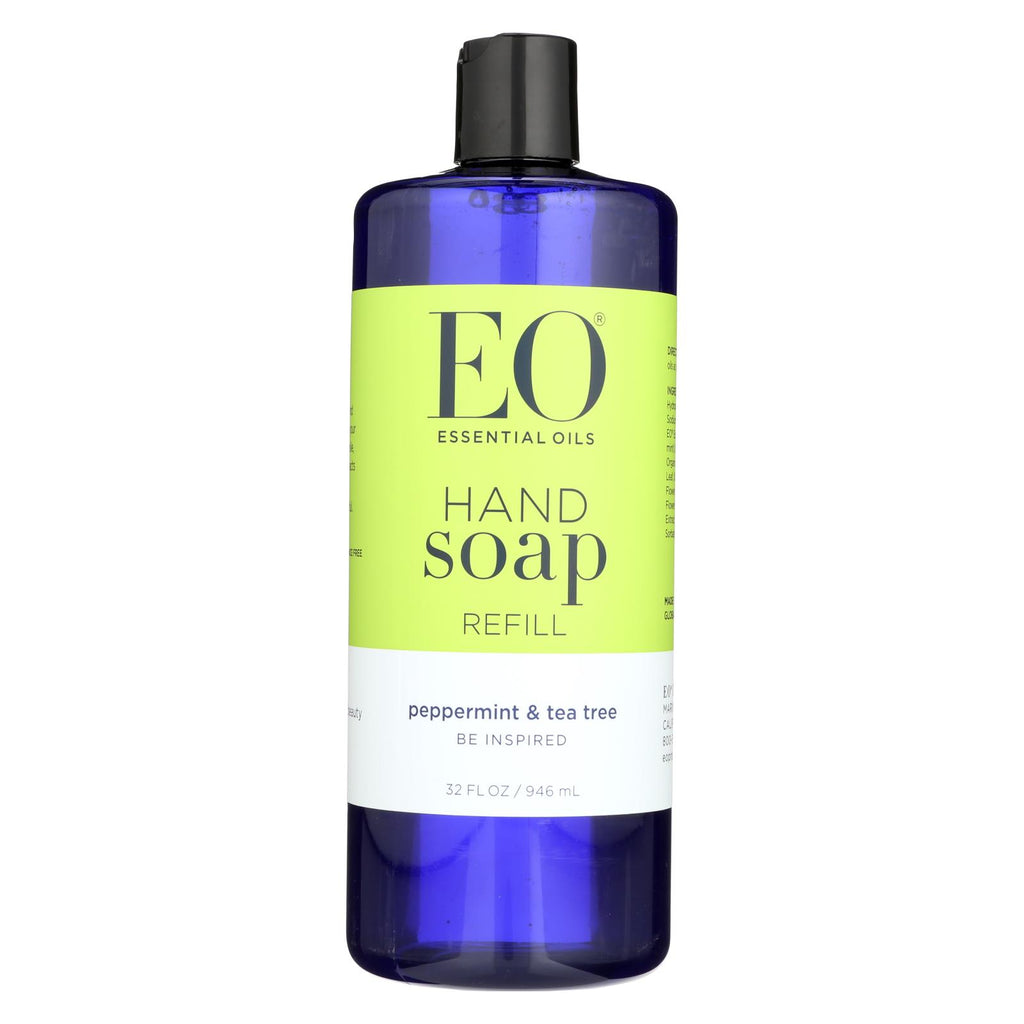 Eo Products Liquid Hand Soap Peppermint And Tea Tree - 32 Fl Oz - Organicotc.com