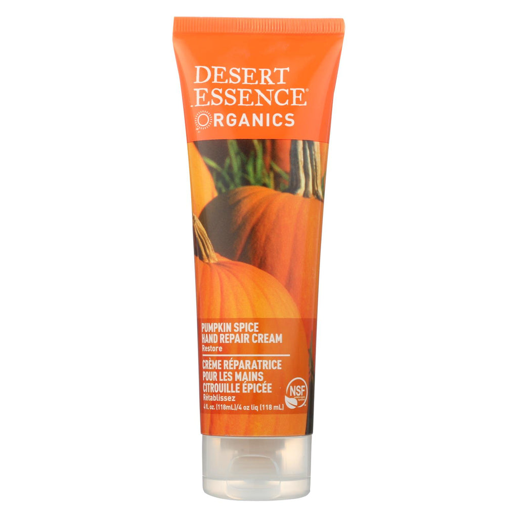 Desert Essence Hand Repair Cream Pumpkin Spice - 4 Fl Oz - Organicotc.com