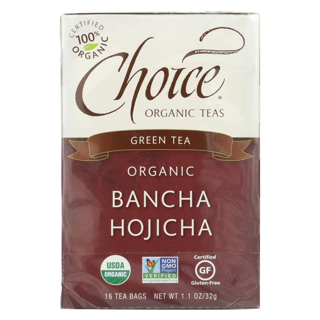 Choice Organic Teas Ban-cha Toasted Green Tea - 16 Tea Bags - Case Of 6 - Organicotc.com