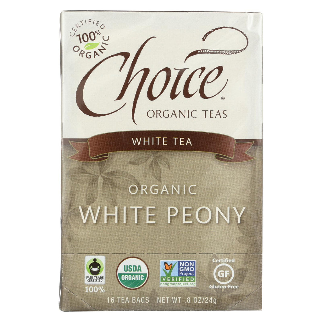 Choice Organic Teas White Tea - 16 Tea Bags - Case Of 6 - Organicotc.com