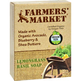 Farmer's Market Natural Bar Soap Lemongrass Basil - 5.5 Oz - Organicotc.com