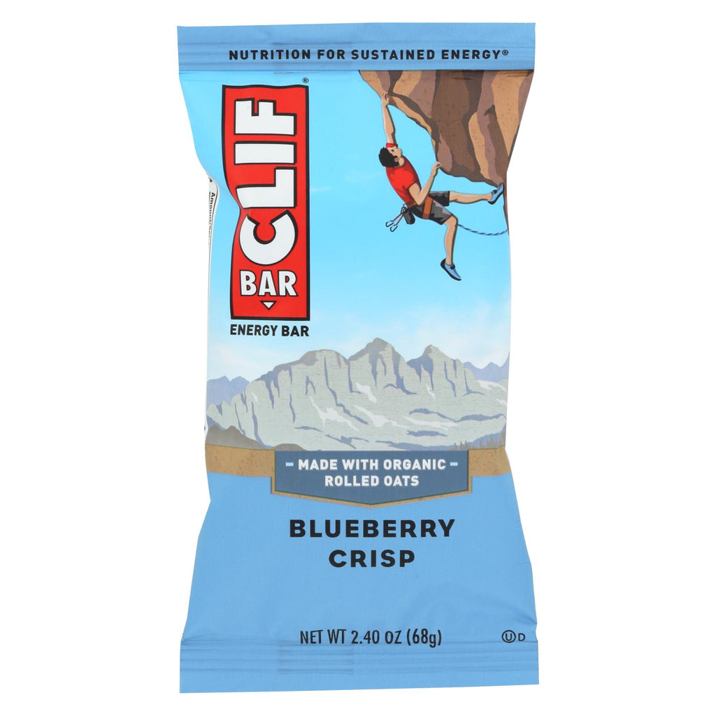 Clif Bar - Organic Blueberry Crisp - Case Of 12 - 2.4 Oz - Organicotc.com