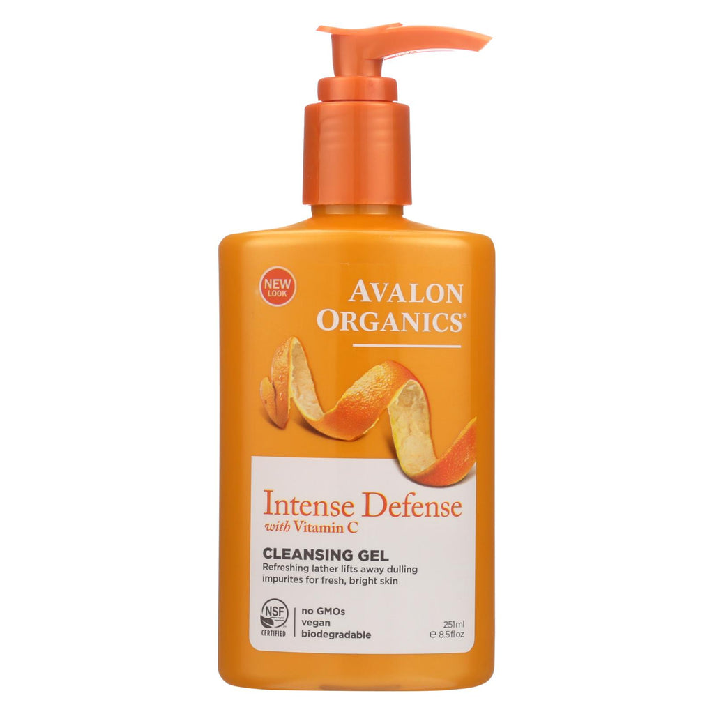 Avalon Organics Refreshing Cleansing Gel Vitamin C - 8.5 Fl Oz - Organicotc.com