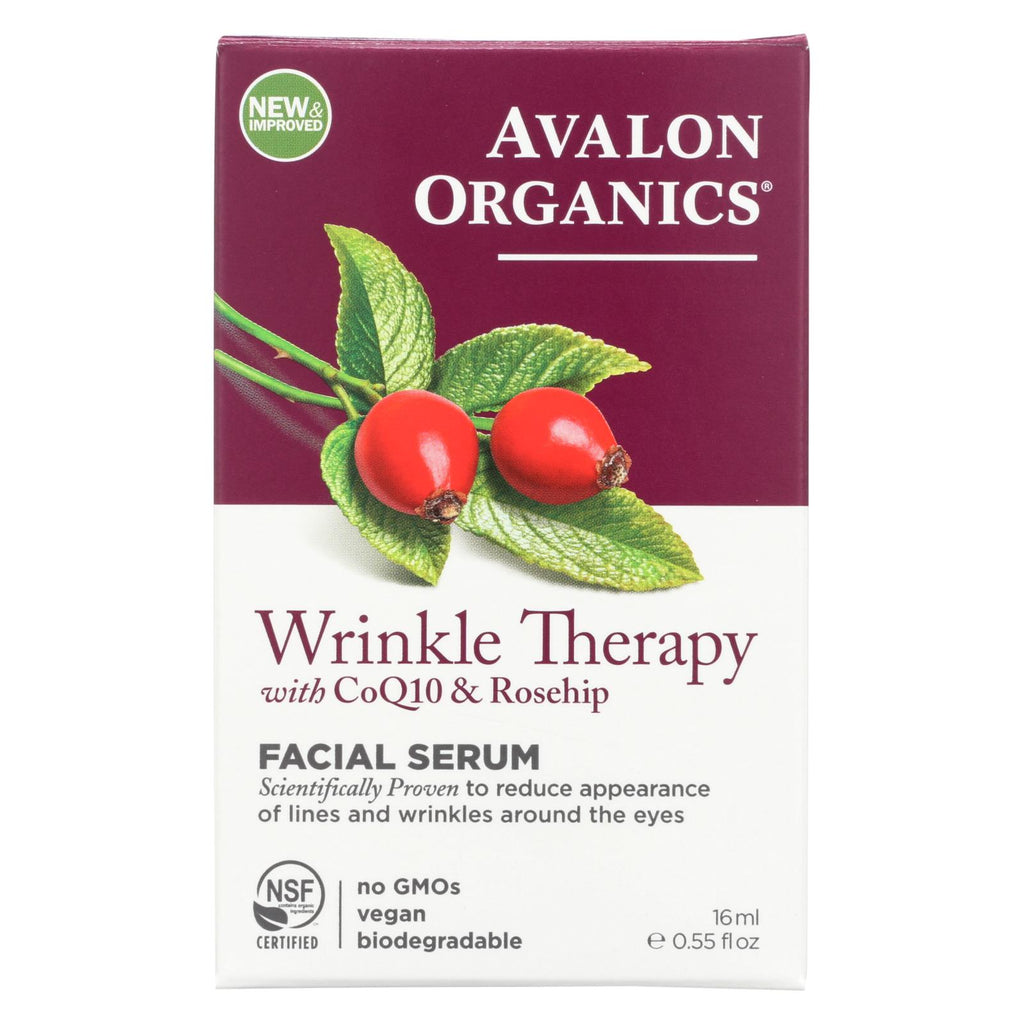 Avalon Organics Coq10 Repair Wrinkle Defense Serum - 0.55 Fl Oz - Organicotc.com