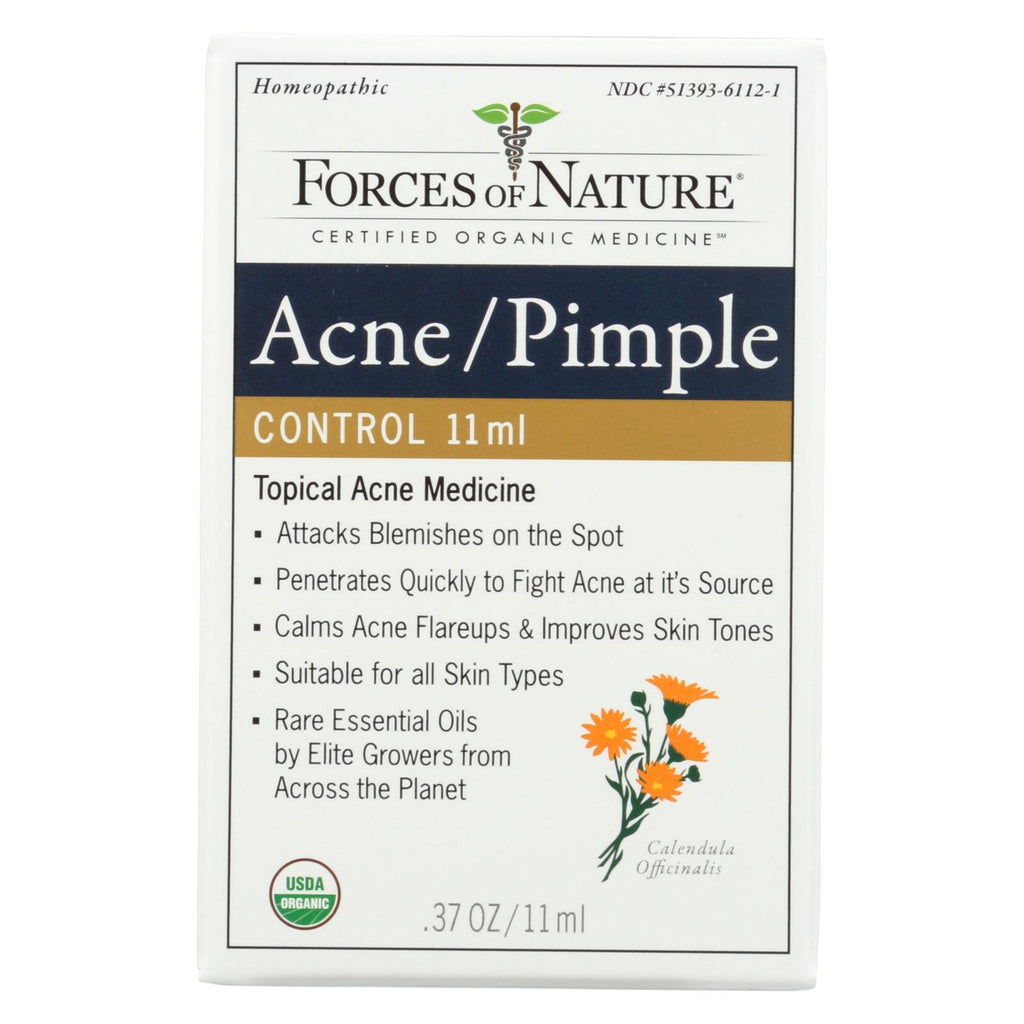 Forces Of Nature Organic Acne And Pimple Control - 11 Ml - Organicotc.com