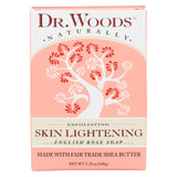 Dr. Woods Bar Soap Skin Lightening English Rose - 5.25 Oz - Organicotc.com