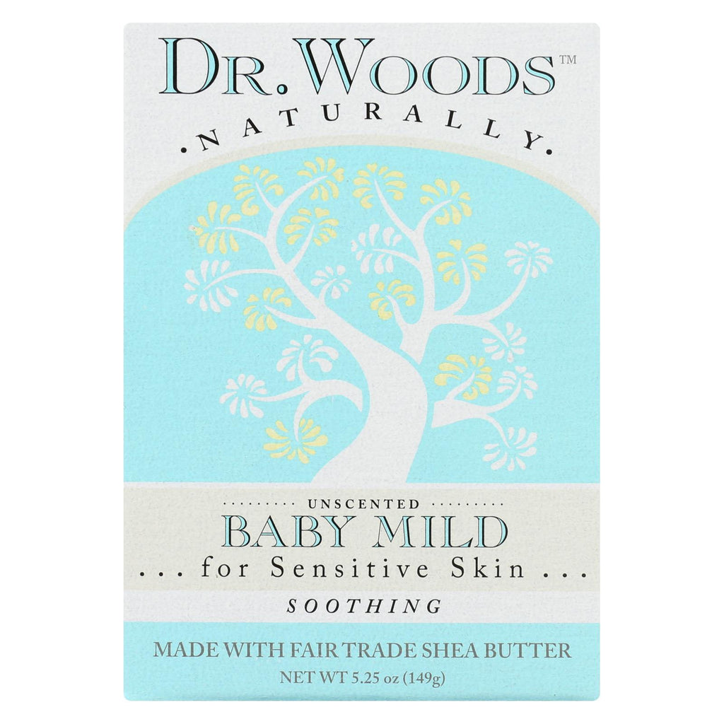 Dr. Woods Bar Soap Baby Mild Unscented - 5.25 Oz - Organicotc.com
