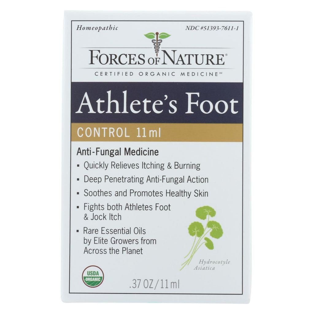 Forces Of Nature Organic Athlete's Foot And Jock Itch Control - 11 Ml - Organicotc.com