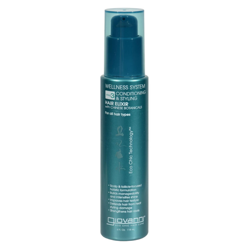 Giovanni Hair Care Products Leave In Conditioner Wellness System - 4 Oz - Organicotc.com
