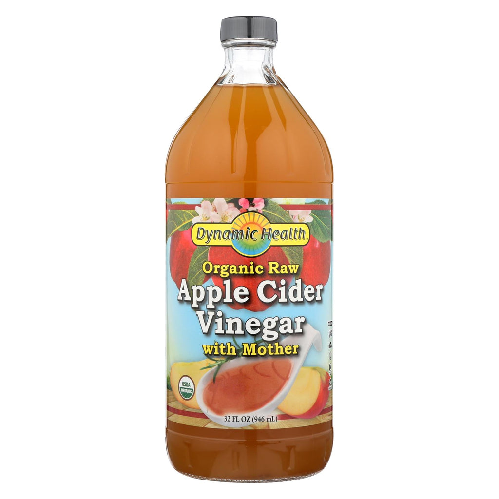 Dynamic Health Apple Cider Vinegar - Organic With Mother - 32 Oz - Organicotc.com