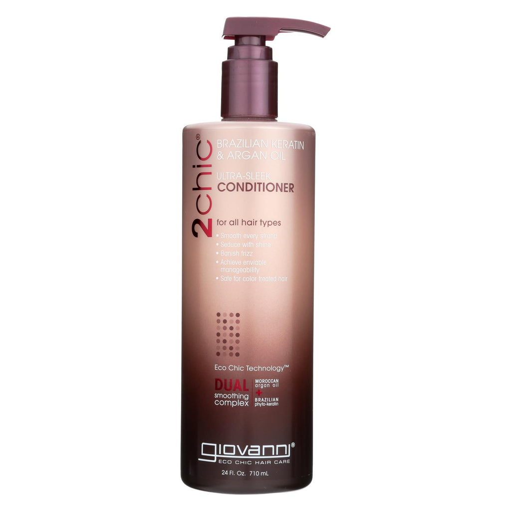 Giovanni Hair Care Products Conditioner - 2chic Keratin And Argan - 24 Fl Oz - Organicotc.com