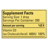 Childlife Organic Vitamin D3 Drops For Babies And Infants - Natural Berry Flavor - .338 Oz - Organicotc.com