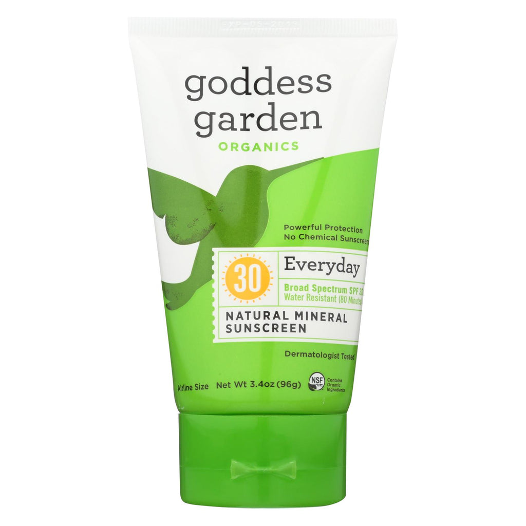 Goddess Garden Organic Sunscreen - Natural Spf 30 Lotion - 3.4 Oz