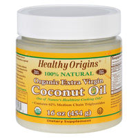 Healthy Origins Coconut Oil - Organic - Extra Virgin - 16 Oz