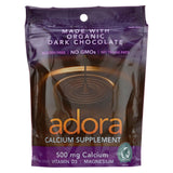 Adora Calcium Supplement Disk - Organic - Dark Chocolate - 30 Ct - 1 Case - Organicotc.com