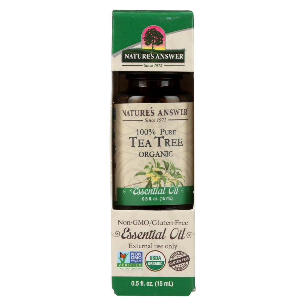 Natures Answer Essential Oil - Organic - Tea Tree - .5 Oz