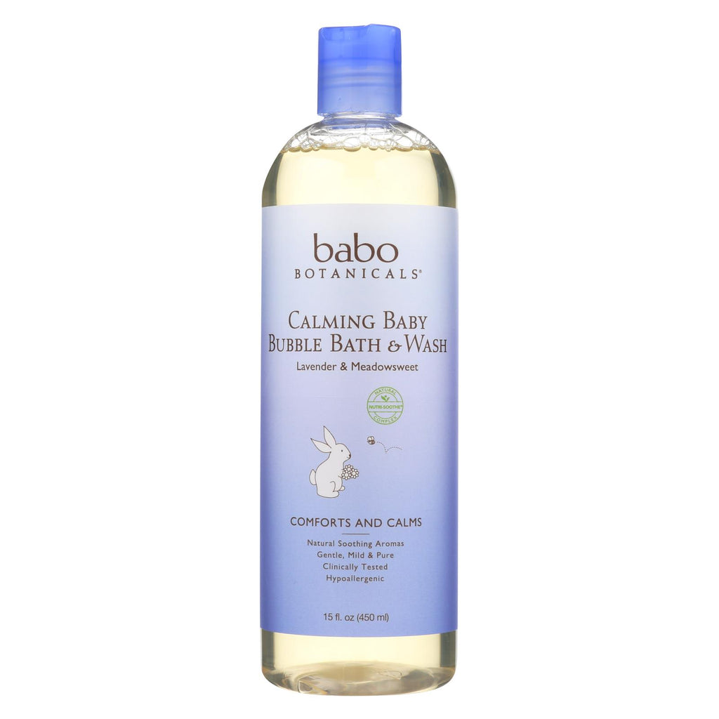 Babo Botanicals Shampoo Bubblebath And Wash - Calming - Lavender - 15 Oz - Organicotc.com