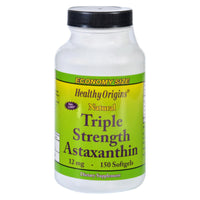 Healthy Origins Astaxanthin - Natural - Triple Strength - 12 Mg - 150 Softgels