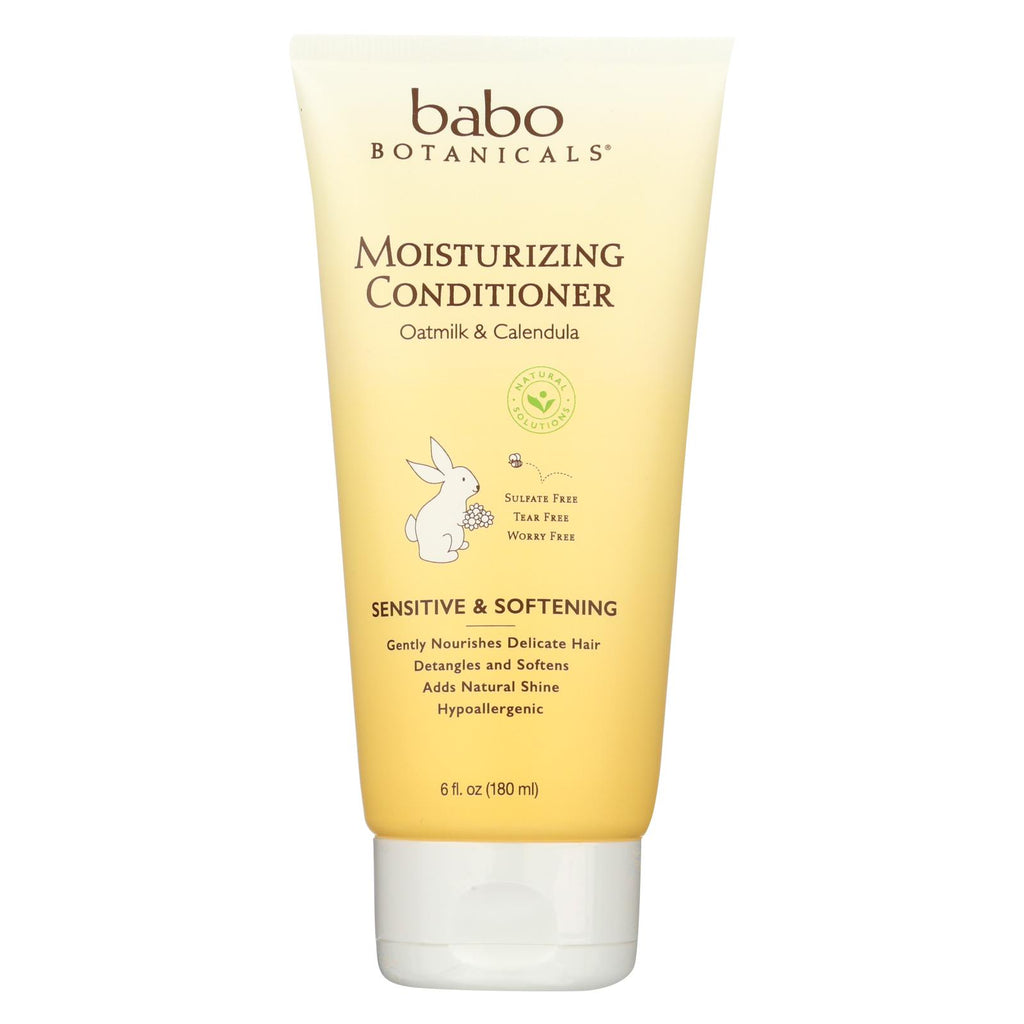 Babo Botanicals Conditioner - Moisturizing - Oatmilk - 6 Oz - Organicotc.com