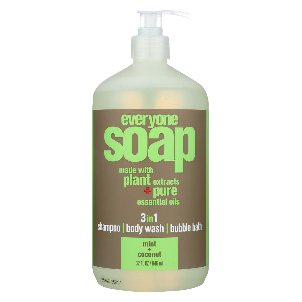 Eo Products Hand Soap - Natural - Everyone - Liquid - Mint And Coconut - 32 Oz - Organicotc.com