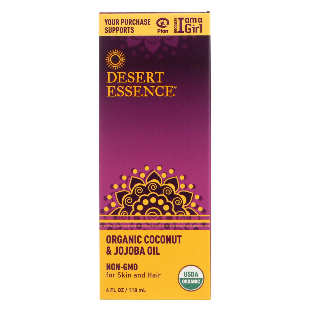 Desert Essence Coconut And Jojoba Oil - Organic - 4 Oz - Organicotc.com