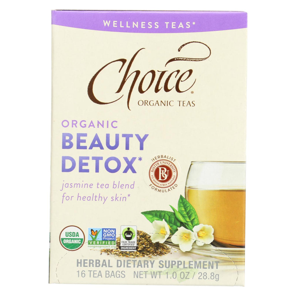 Choice Organic Wellness Tea - Beauty Detox - Case Of 6 - 16 Bags - Organicotc.com