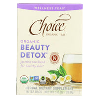 Choice Organic Wellness Tea - Beauty Detox - Case Of 6 - 16 Bags