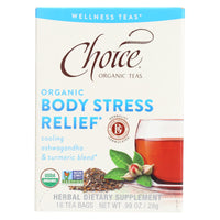 Choice Organic Wellness Tea - Body Stress Relief - Case Of 6 - 16 Bags