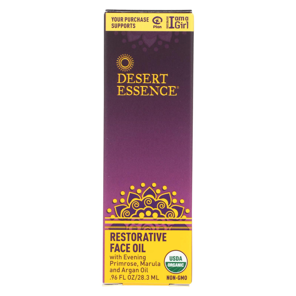 Desert Essence Restorative Face Oil - 0.96 Fl Oz. - Organicotc.com