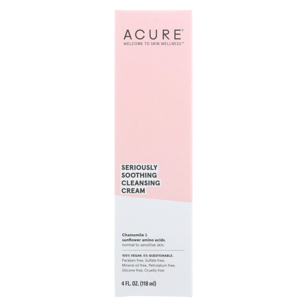 Acure Sensitive Facial Cleanser - Peony Extract And Sunflower Amino Acids - 4 Fl Oz. - Organicotc.com