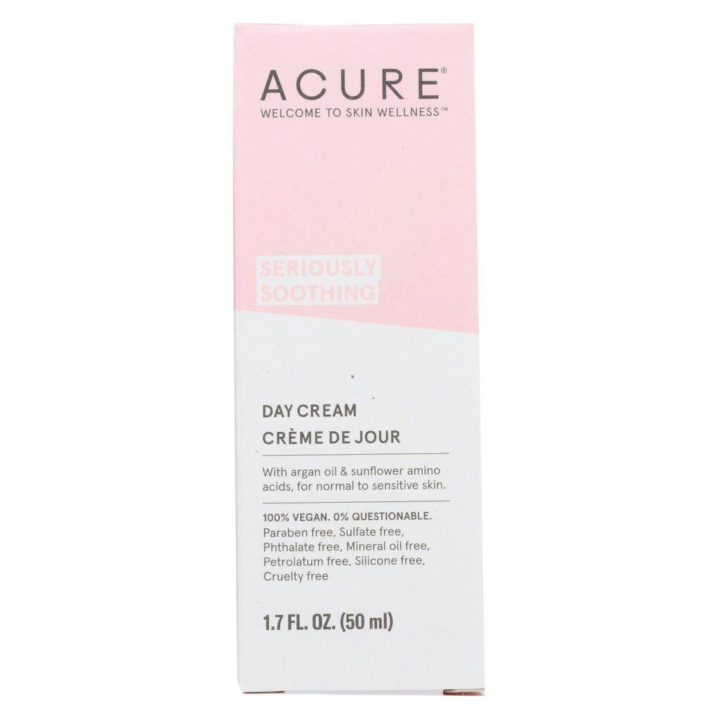 Acure Sensitive Facial Cream - Argan Oil And Sunflower Amino Acids - 1.75 Fl Oz. - Organicotc.com