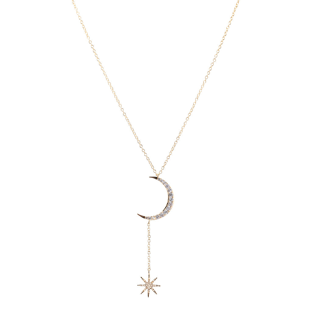 Celestial Moon and Star Necklace