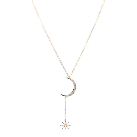 Canary Pear CZ Drop Necklace