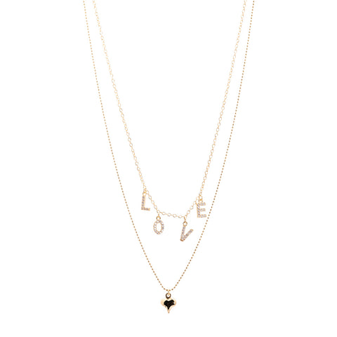 Pave Floral Clover Necklace