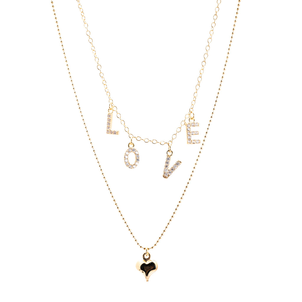 "Double Row ""LOVE"" Necklace"