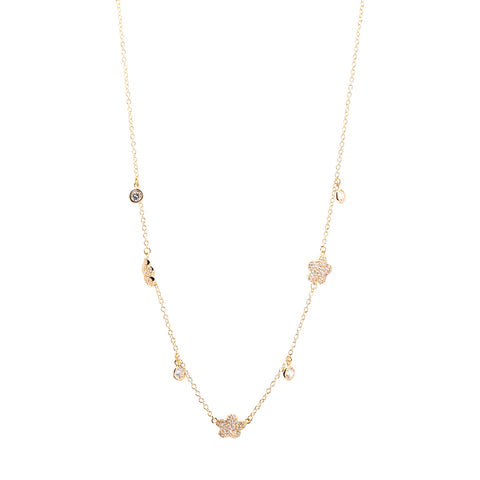 "16"" Rose Gold Station Necklace"