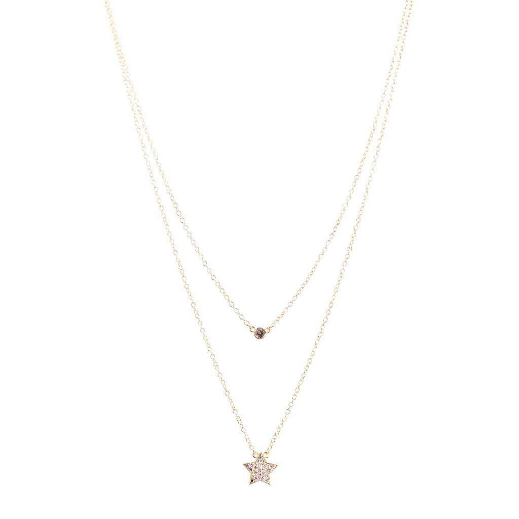 Double Layer Star Charm Necklace