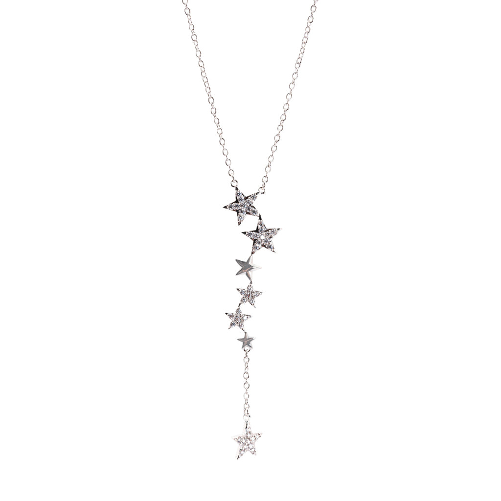 "Pave Star ""Y"" Necklace"