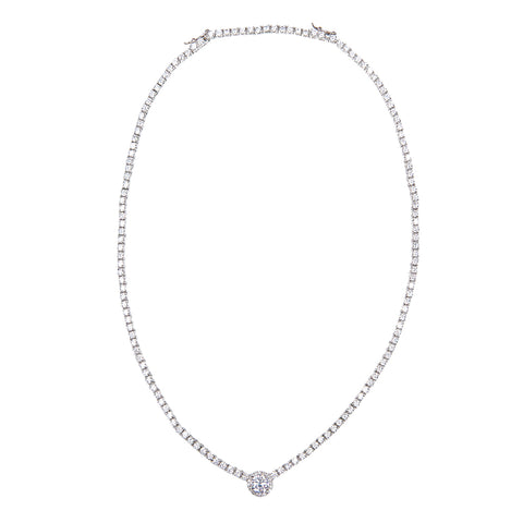 Duchess Pave Pendant Necklace