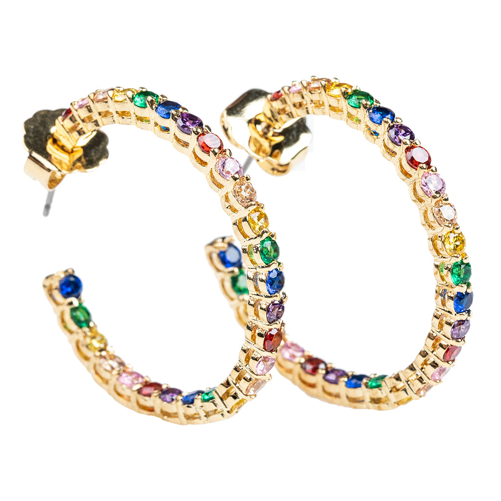Rainbow Inside Out Hoop Earrings