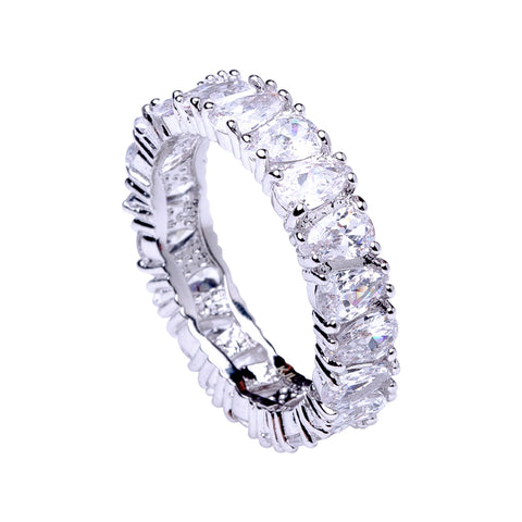 Classic Gold Round Eternity Band